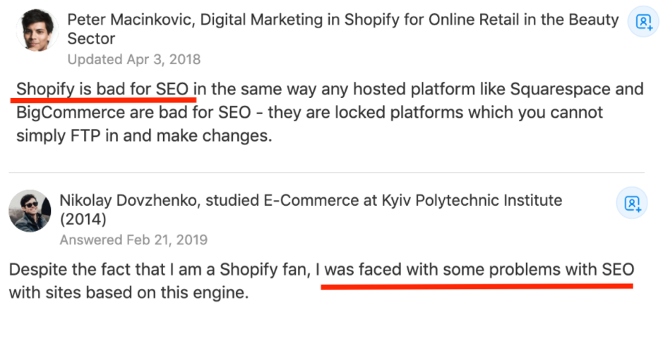 Similar to Shopify